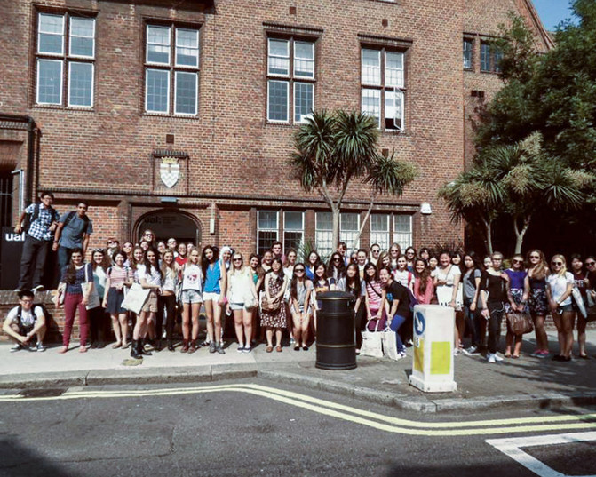 Students at London College of Fashion 2014