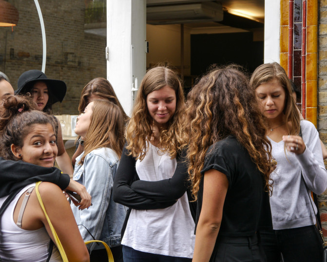 Students on Columbia Road 2016