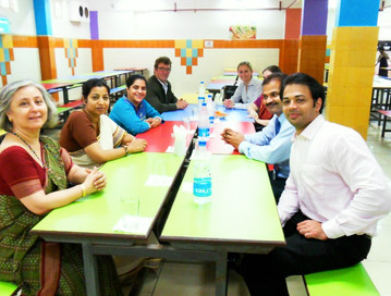 Robert visiting schools in India with the Britsih Council 2008