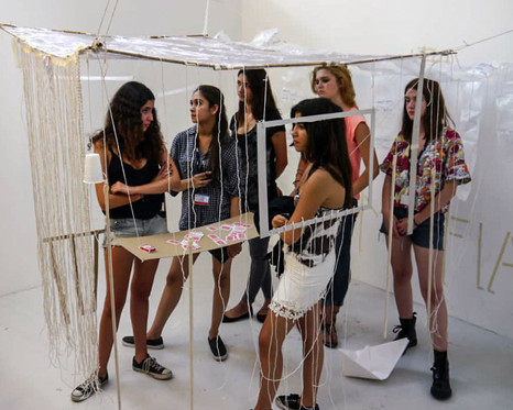 Summer school students and their installation 2013