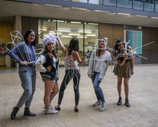 Students with body adornment at CSM 2015