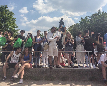 Robert with students 2018. Greenwich Observatory