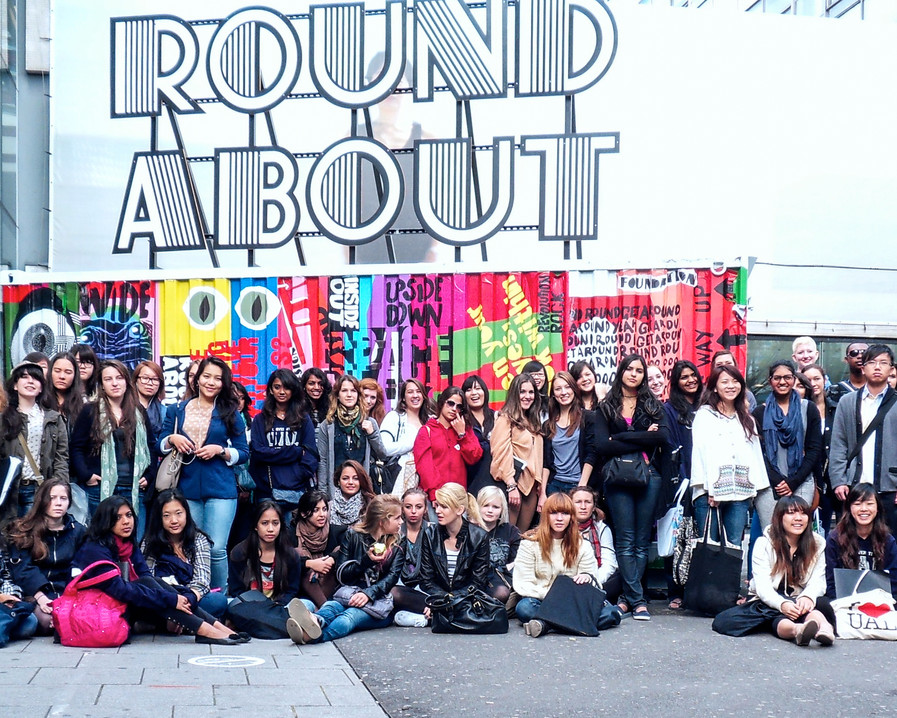 Students at London College of Communication 2010