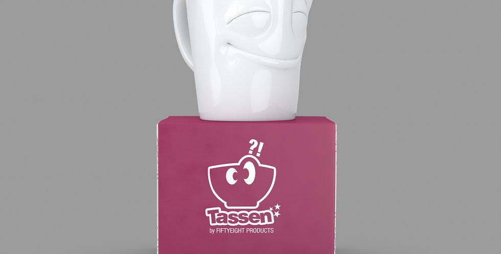 """Espresso-Mug mit Henkel """"Vergnügt"""", 80 ml"""