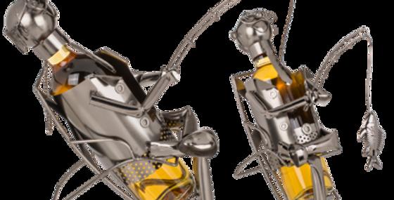 Metall-Flaschenhalter, Angler