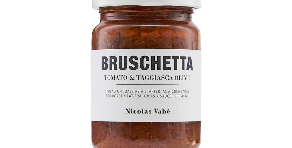 Bruschetta, Tomato + Taggiasca Olive