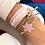 Thumbnail: Stoff-Armband - PEACE HOPE LOVE