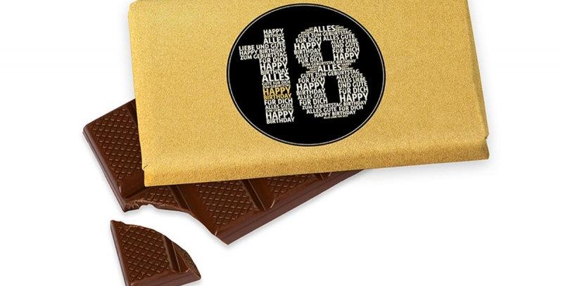 Schokolade zum runden Geburtstag
