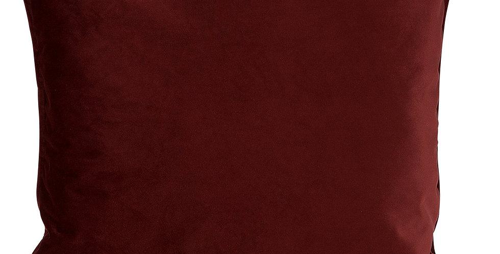 H.O.C.K. Nobile Samt Kissen 60x60cm indian-red