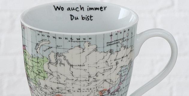 """Jumbobecher Weltreise """"Wo auch immer du bist"""""""
