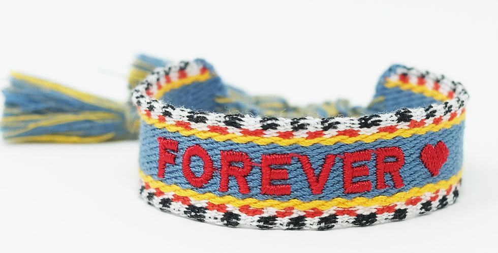 Stoff-Armband - FOREVER