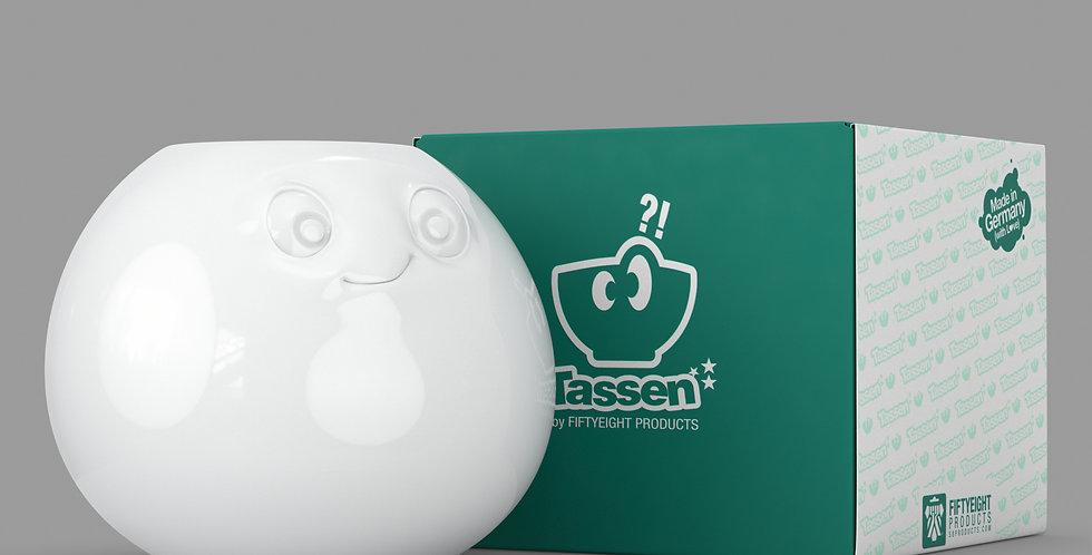 """Vase """"Amüsiert""""in weiß"""
