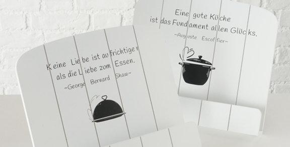 """Buchständer """"Küchenglück"""""""