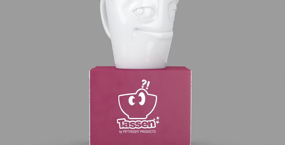 """Espresso-Mug mit Henkel """"Verschmitzt"""", 80 ml"""