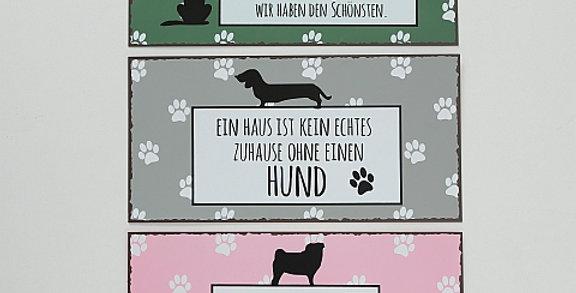 """Schild """"Hund"""""""