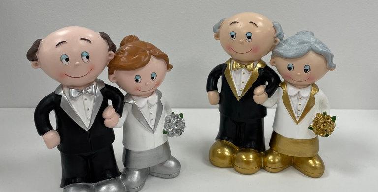 Silberhochzeit, Goldene Hochzeit Paar