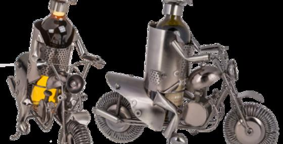 Metall-Flaschenhalter, Motorradfahrer