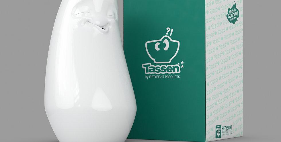 """Vase """"Entspannt"""" in weiß"""