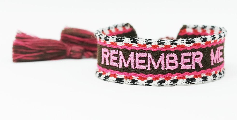 Stoff-Armband - REMEMBER ME