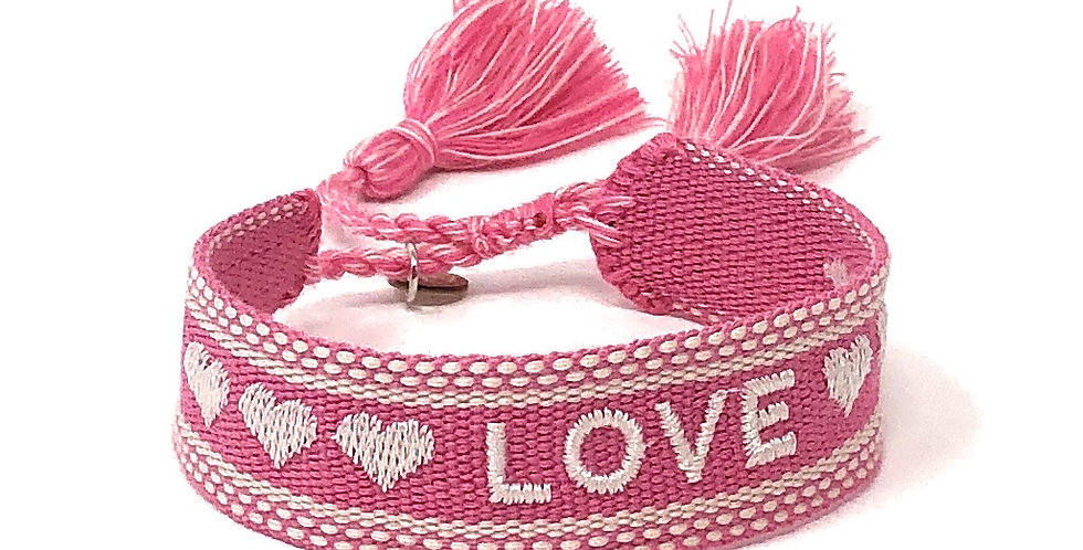 Stoff-Armband - LOVE