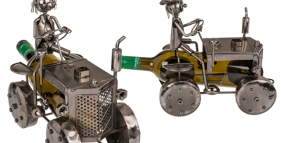 Metall-Flaschenhalter, Traktor