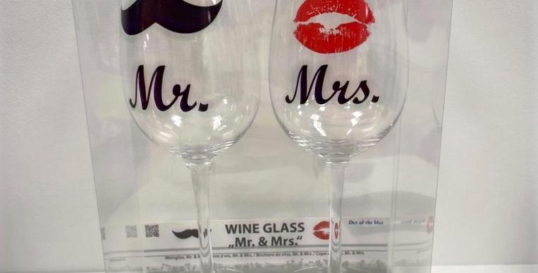 Weingläser Mr. + Mrs.