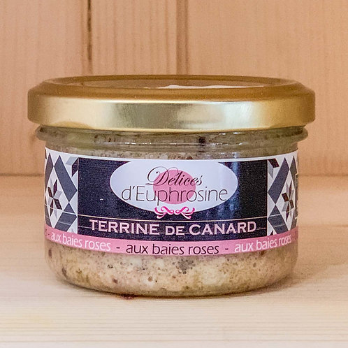Terrine de canard aux baies roses (90g)
