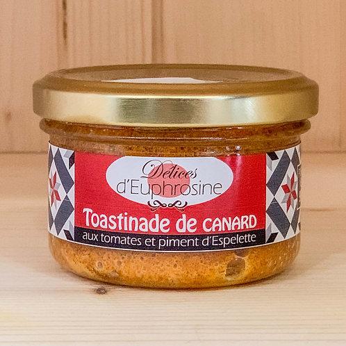 Toastinade de canard aux tomates et piment d'Espelette (90g)