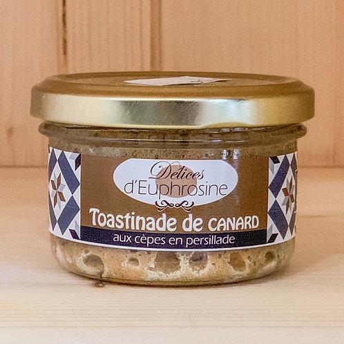 Toastinade de canard aux cèpes en persillade (90g)