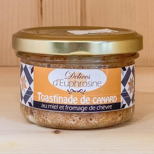 Toastinade de canard au miel et fromage de chèvre (90g)