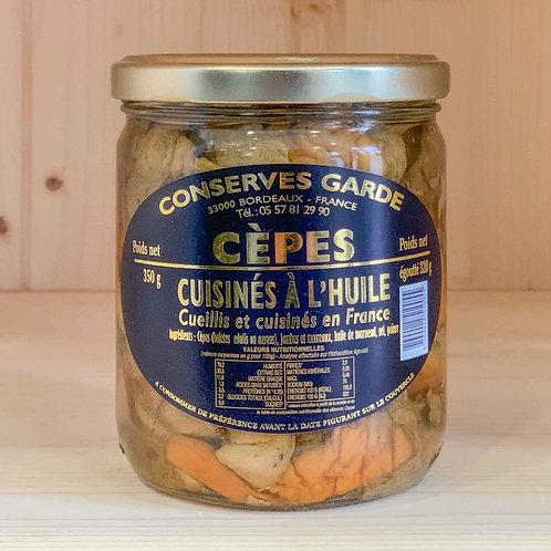 Cèpes cuisinés à l'huile (350g)