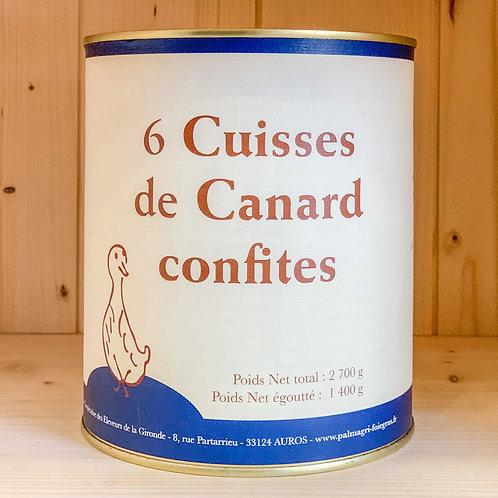 6 Cuisses de Canard Confites (2700g)