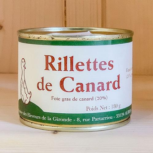 Rillettes de Canard au Foie gras de canard (180g)