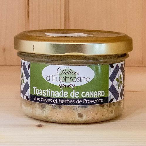 Toastinade de canard aux olives et herbes de Provence (90g)