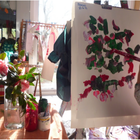 Camellia Painting