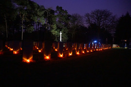 Lichtjes op de oorlogsgraven