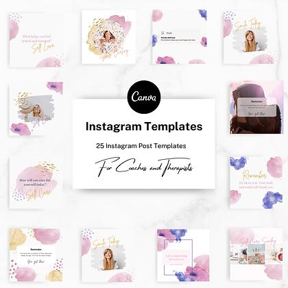 Watercolor Instagram Templates