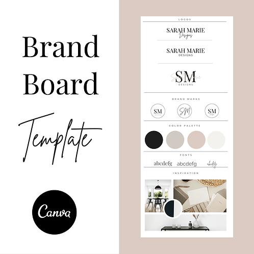 Minimalist Brand Board