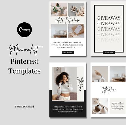 Minimalist Pinterest Templates