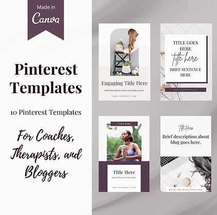 Pinterest Templates for Coaches