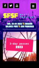 Events website templates – Music Festival