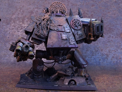 Lonely Kitbasher 40K Sagodjur Fjorlag blanchitsu amphis bane dreadnaught