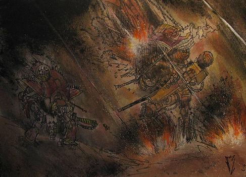 warhammer 40k imperial illustration knight