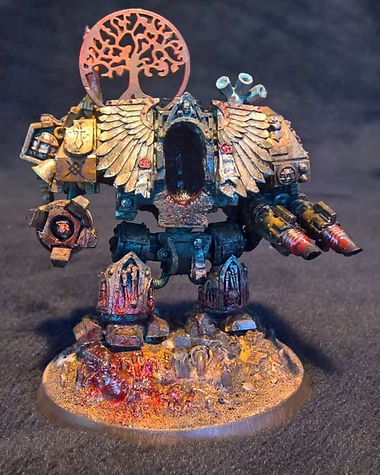 Lonely Kitbasher 40K forge world Sagodjur Fjorlag blanchitsu veteran dreadnaught