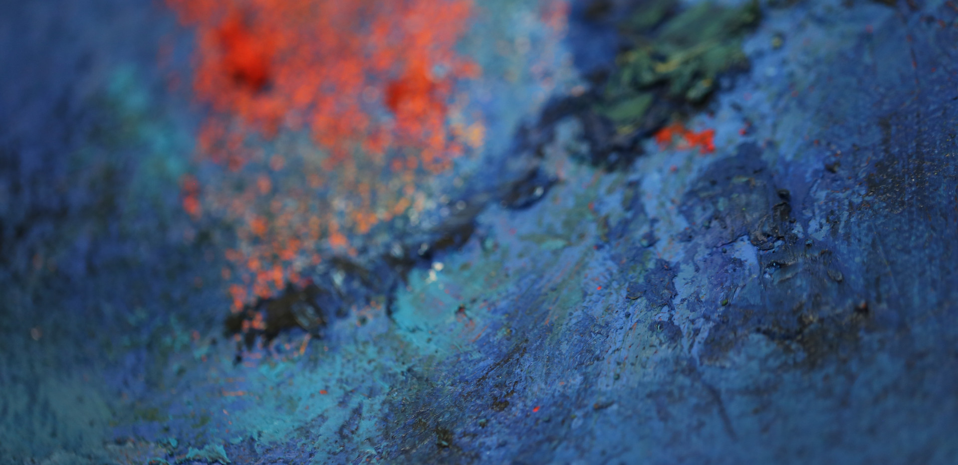 Title: Argon (detail)  Size:  160 x 100 x 5mm  Materials:  Oil paint, oil bars, acrylic paint, textured medium and sand