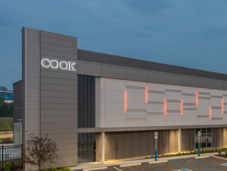 Cook Regentec Award-winning Innovation Center on Indiana Avenue (designed by BSA LifeStructures)
