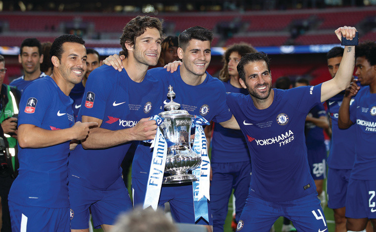 Pedro, Alonso, Morata and Fabregas