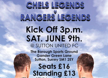 See Chelsea legends play Rangers legends - and celebrate the life of the great Ray Wilkins