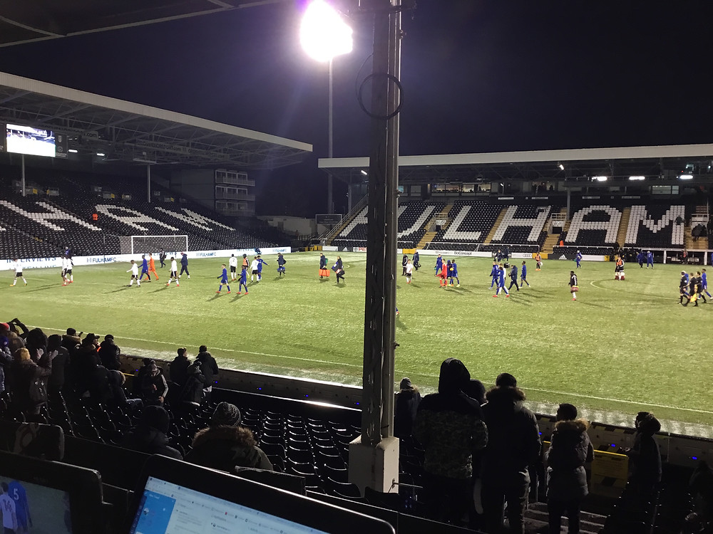 Fulham FC Youth v Chelsea FC Youth. Photo by Paul Lagan
