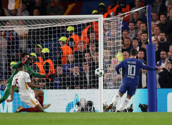 Hazard spares Chelsea's blushes in exhilarating Champions League draw